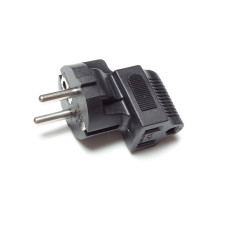 NEMA to Schuko Angled Adapter