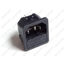 Schurter IEC Inlet Snap-In with Fuseholder
