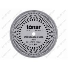 Tonar 10cm Aluminium Stroboscopic Disc art.5468
