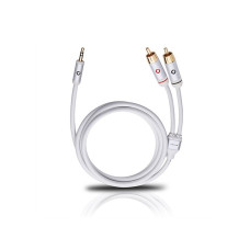 Oehlbach i-Connect Mini-Jack 3.5 mm — 2 RCA 1.5 m (white)