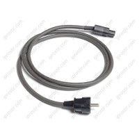 Straight Wire Gray Lightning 15A IEC 1.5 m
